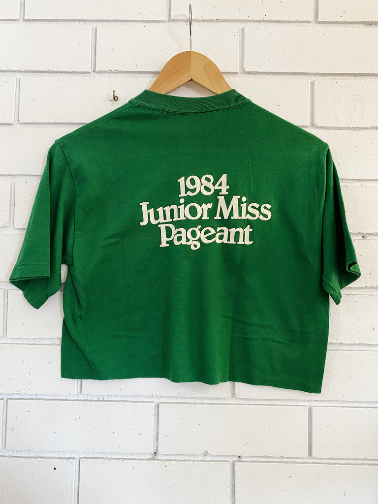 Vintage 50/50 - Good Cents Home Green Cropped Tee - Medium
