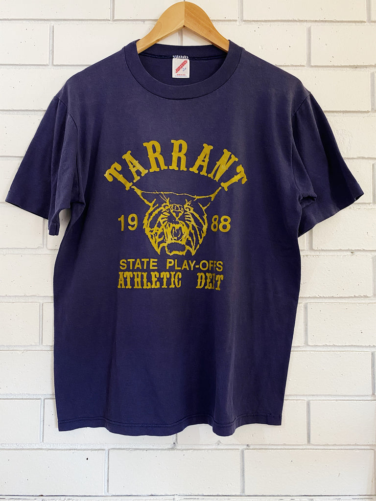 Vintage 50/50 - Tarrant Athletic Navy Tee - Large