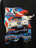 Vintage Nascar - Checkered Flag Martin Black Sweatshirt - XLarge