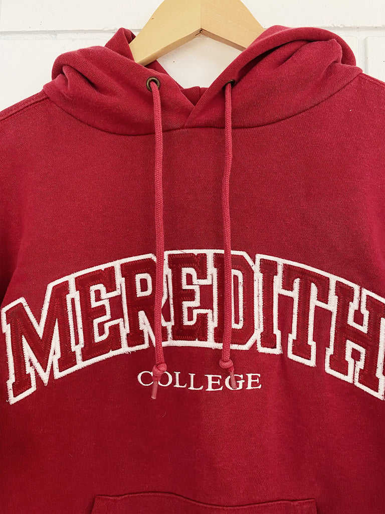 Vintage College Meredith College Hoodie - Small