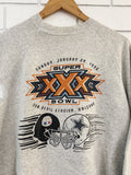 Vintage Sports - 96 Super Bowl Arizona Grey Marle Sweatshirt - Medium