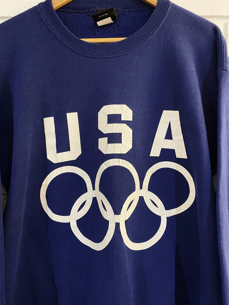 Vintage Sports - USA Olympic JC Navy Sweatshirt - Large