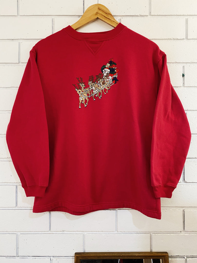 Vintage - Rudolph Red Sweatshirt - Small