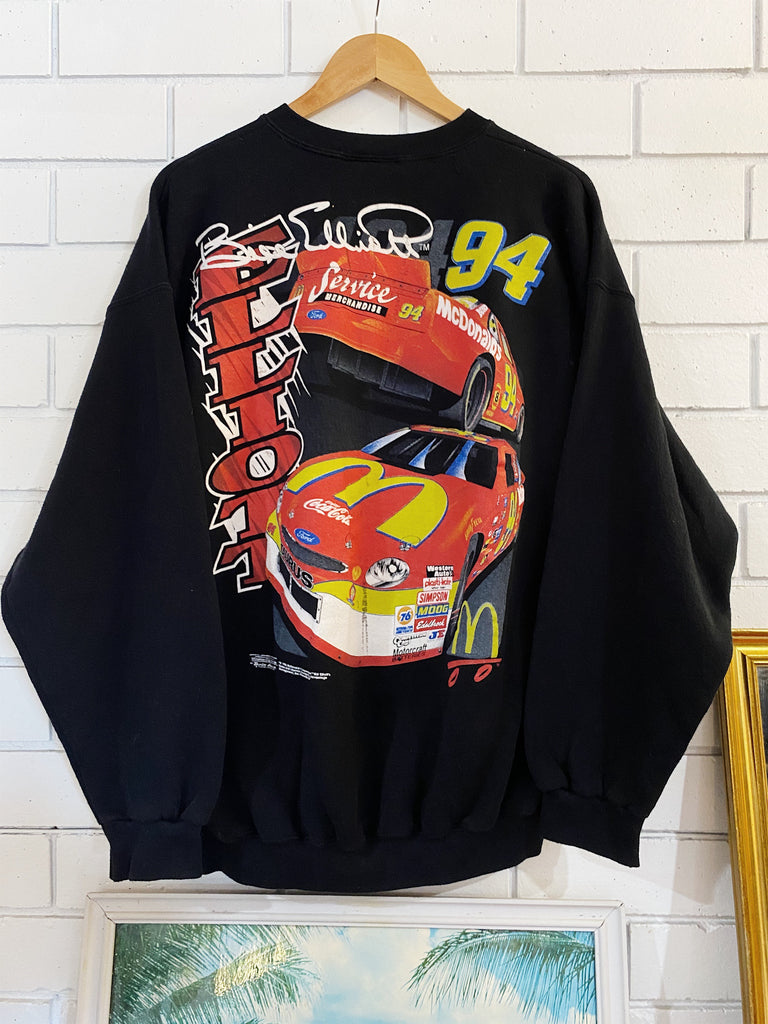 Vintage Nascar - Bill Elliott Saddle Black Sweatshirt - XLarge
