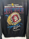 Vintage Nascar - 1992 Champion Kulwicki Faded Black Sweatshirt - Small