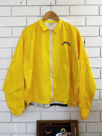 Vintage Tobacco - Camel Suit Yellow Spray Jacket - Large