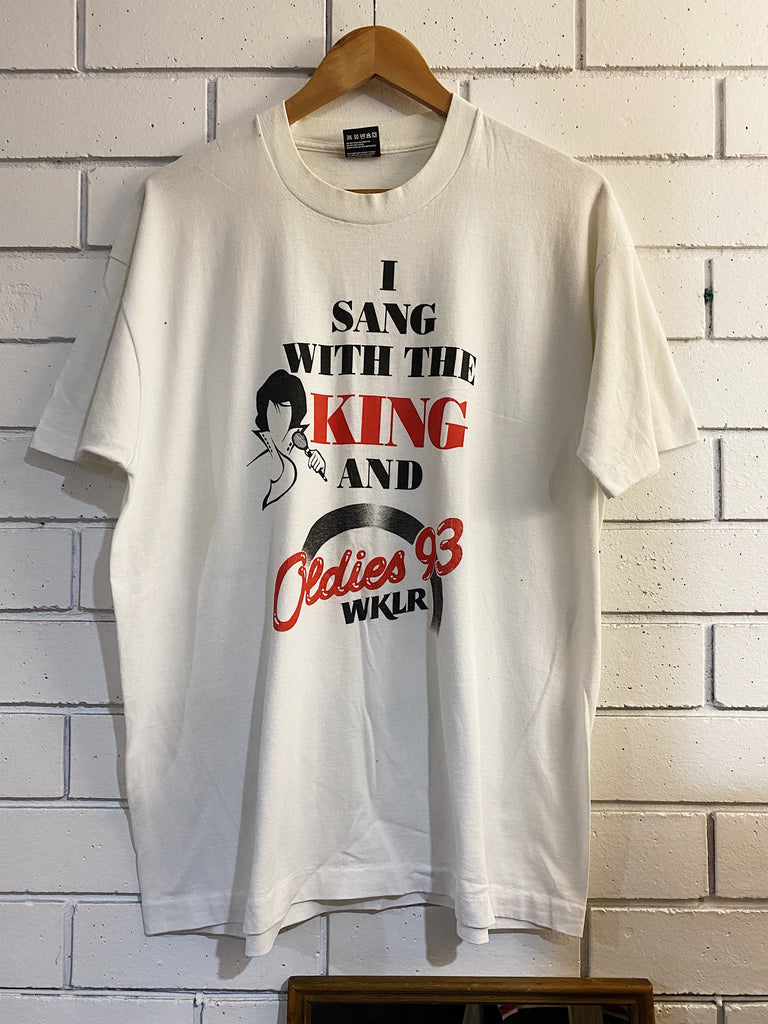 Vintage Music - The King White Tee - XLarge