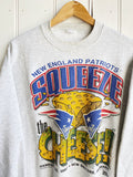 Vintage Sports - Patriots Squeeze the Cheese Grey Sweatshirt - XLarge
