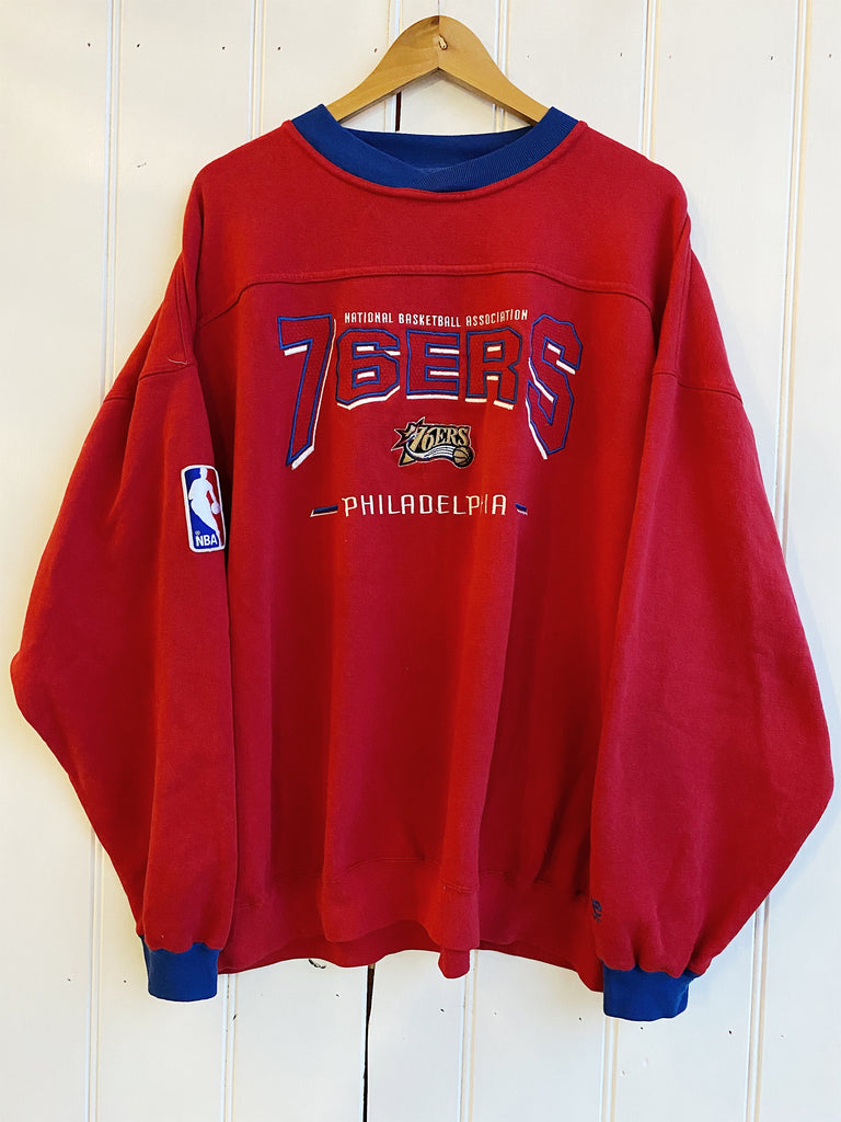 Vintage Sports - Lee Philadelphia 76ers Red Sweatshirt - 2XLarge