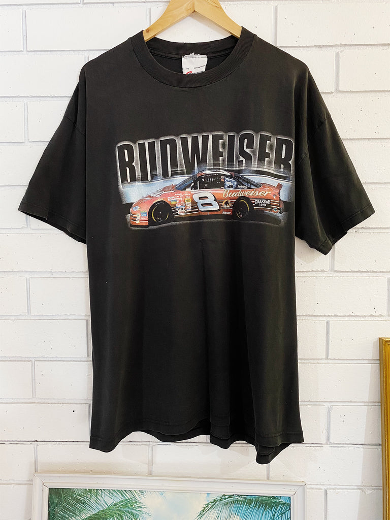 Vintage Nascar - Dale Jr 8 Faded Black Tee - XLarge