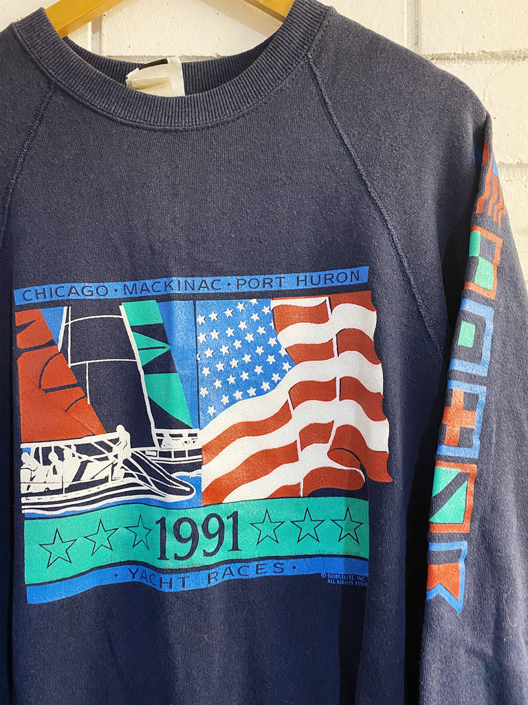Vintage Sports - 1991 Yacht Races Navy Sweatshirt - Large