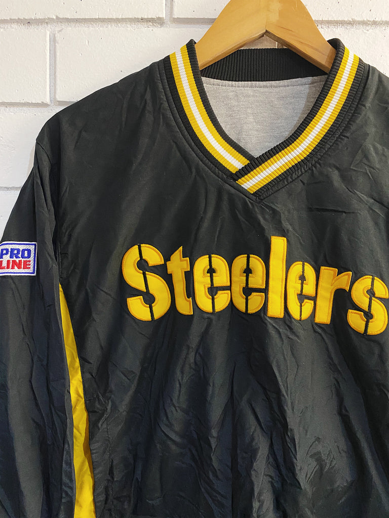 Vintage Sports - Reversible Steelers Pullover - XSmall