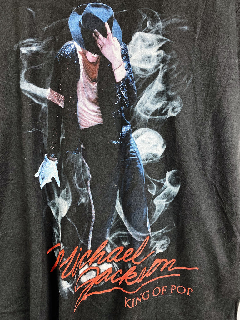 Vintage Music - King Of Pop Black Tee - XLarge