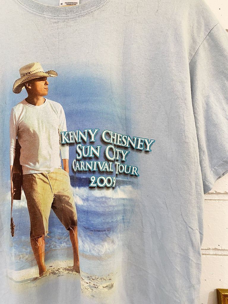 Preloved Music - Kenny Chesney Blue Tee - Medium