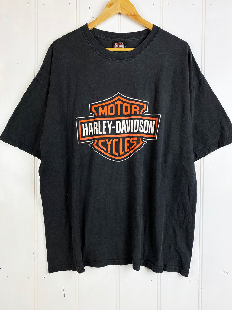 Preloved Harley - Montclair Black Tee - 2XLarge