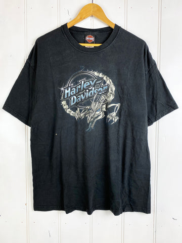 Vintage Harley - South Dakota Black Tee - XLarge