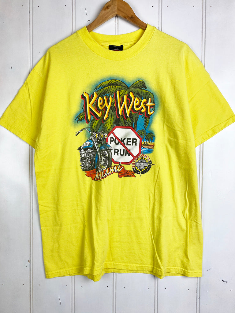 Vintage Harley - Key West Yellow Tee - XLarge