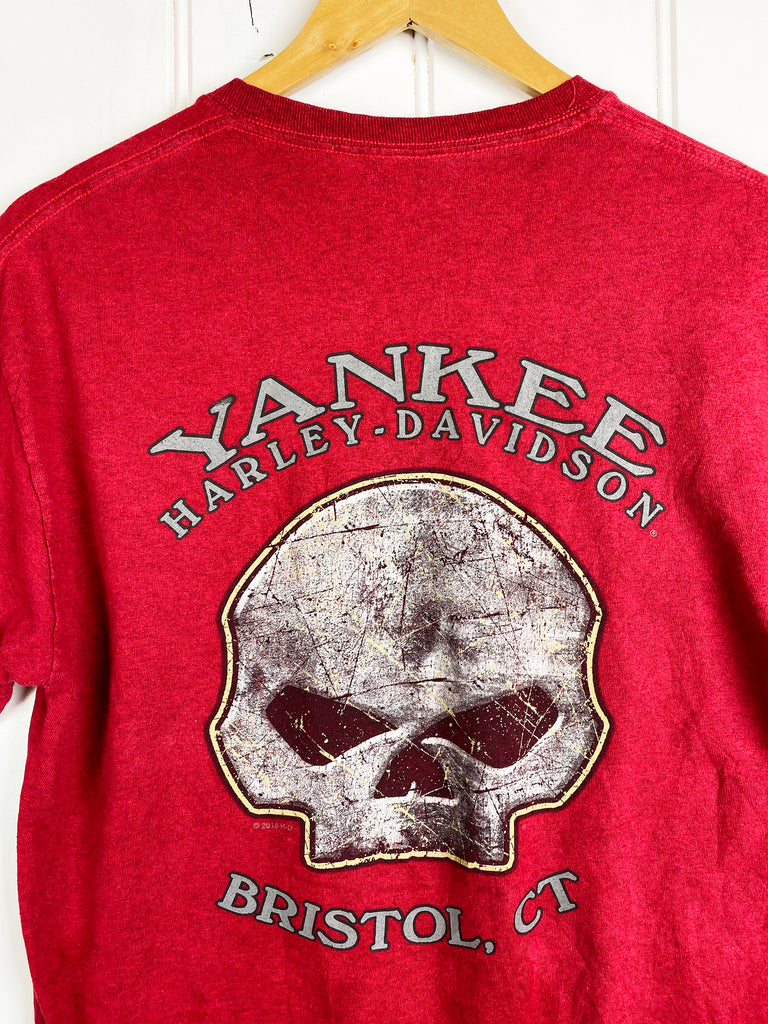 Preloved Harley - Yankee Red Tee - Medium
