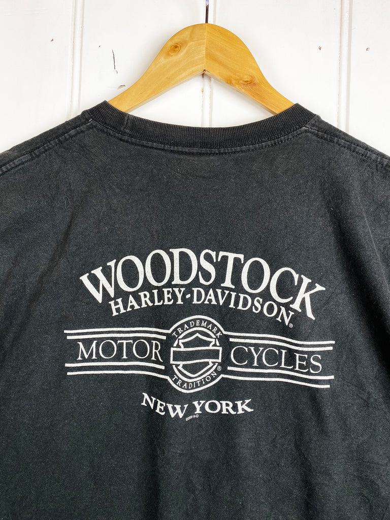 Preloved Harley - Woodstock Black Muscle Tee - XLarge
