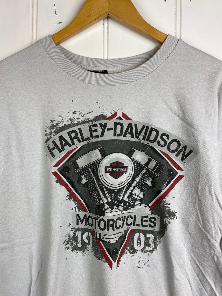 Preloved Harley - Paducah Grey Tee - Large