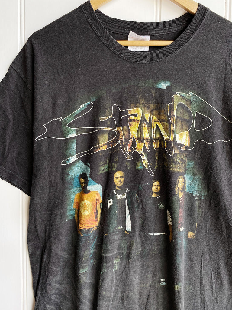 Preloved Music - Staind 2008 Faded Black Tee - Large
