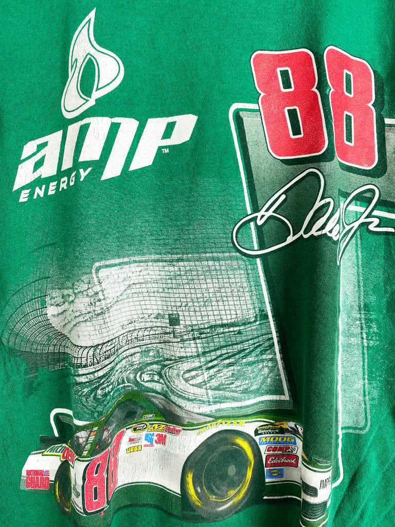 Preloved Nascar - AMP Dale Jr Green Tee - Large