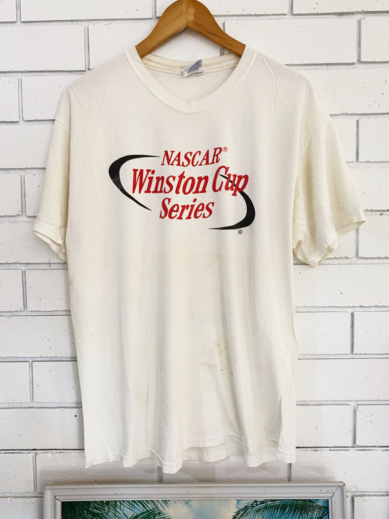 Vintage Nascar - 2000 Winston Cup Trashed White Tee - Large