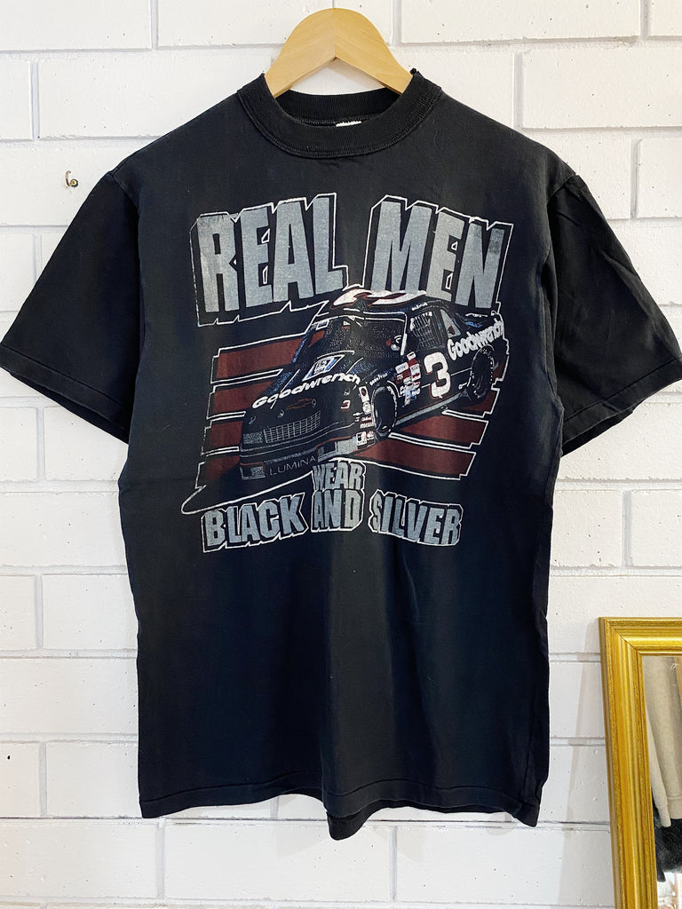 Vintage Nascar - Real Men Black Tee - Medium