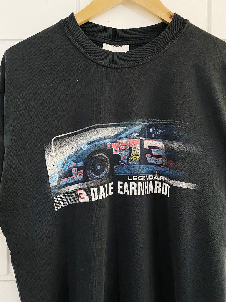 Vintage Nascar - Legendary Dale Earnhardt Faded Black Tee - Large