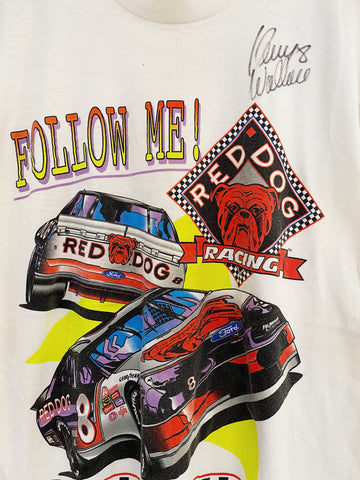 Vintage Nascar - Kenny Wallace 8 White Tee - Medium