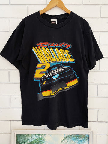 Vintage Nascar - Rusty Wallace Black Tee - Large