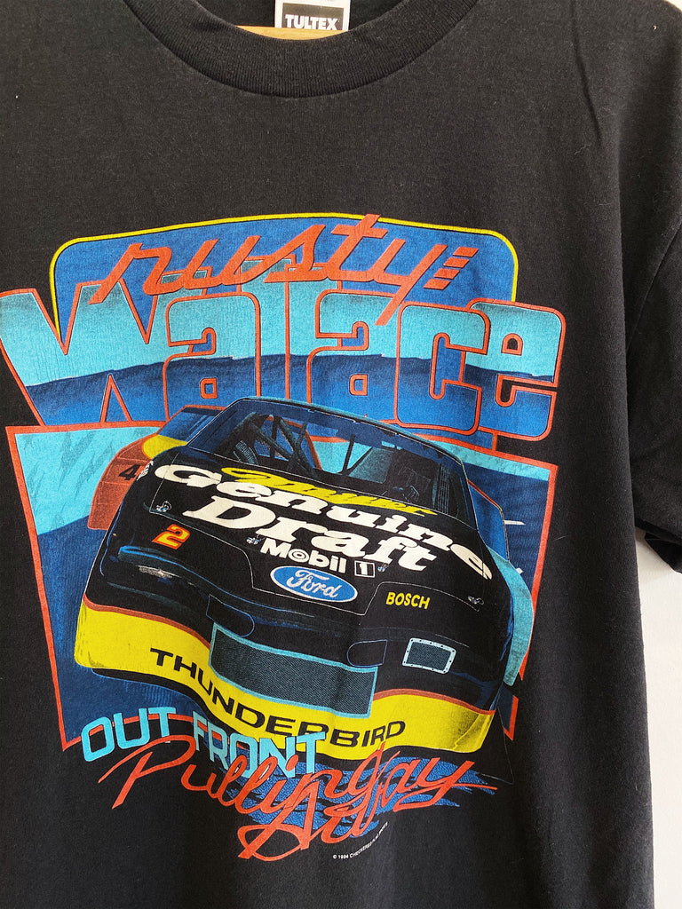 Vintage Nascar - Out Front Rusty Black Tee - Large