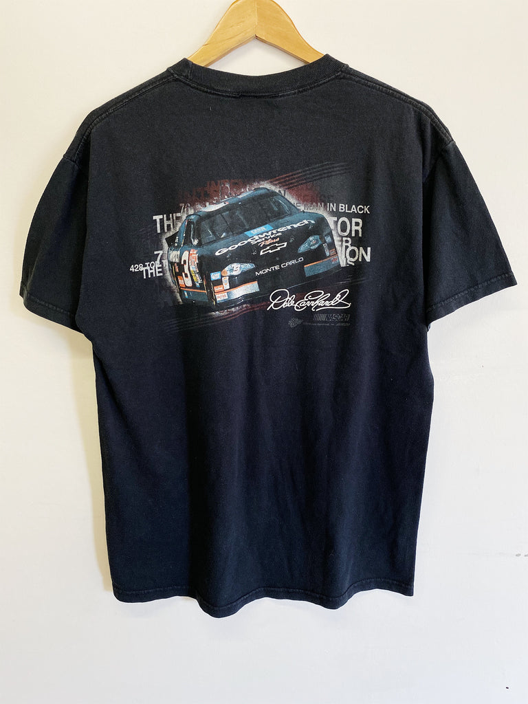 Vintage Nascar - Man in Black Earnhardt Faded Black Tee - Medium