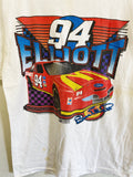 Vintage Nascar - 94 Elliott McD White Tee - Medium
