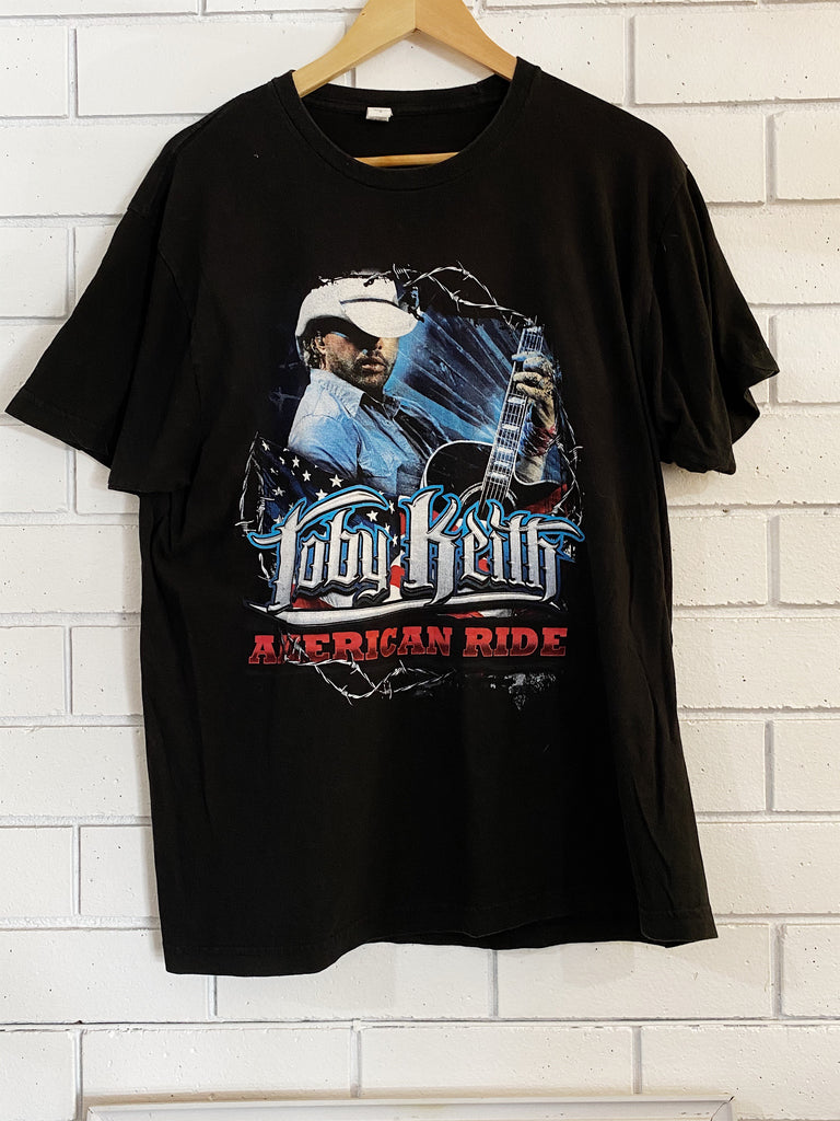 Vintage Music - Toby Keith Faded Black Tee - Large