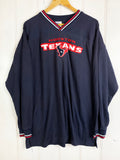Vintage Sports - Houston Texans Navy Longsleeve Tee - XLarge