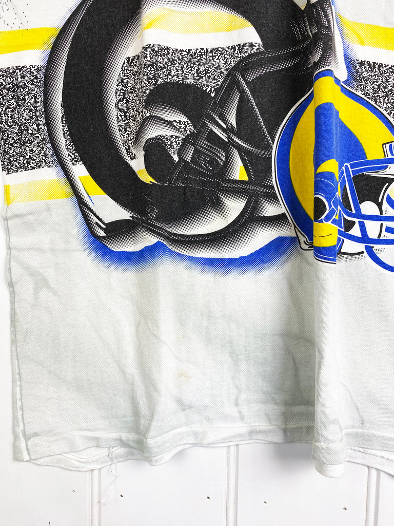 Vintage Sports - ST Louis Rams White Tee - Large