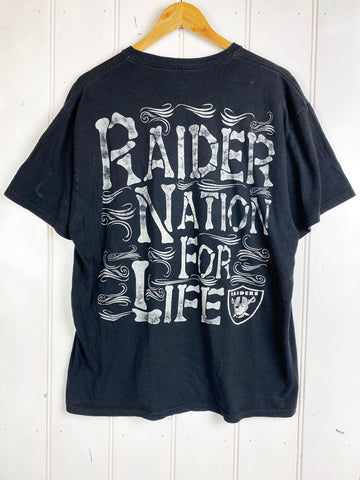 Vintage Sports - Raider Nation Black Tee - Large