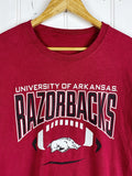 Preloved Sports - Football Arkansas Razorbacks Red Tee - Large