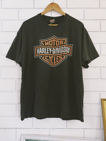 Vintage Harley Golden Gate Black T-Shirt - XLarge