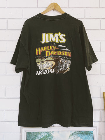 Vintage Harley Jim's Yuma Black Pocket T-Shirt - 2XL