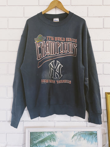 Vintage 1996 Yankees World Series Navy Sweatshirt - X-Large