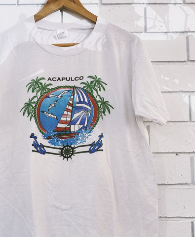 Vintage Acapulco Tourist T-Shirt - Medium