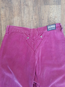 Vintage Maroon Roughrider Jeans - Size 9-10