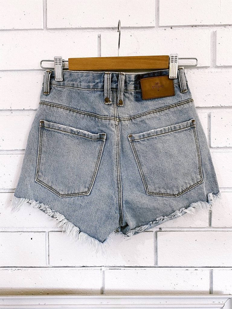 Pre-loved Thrills denim shorts - Size 24 (X-Small)