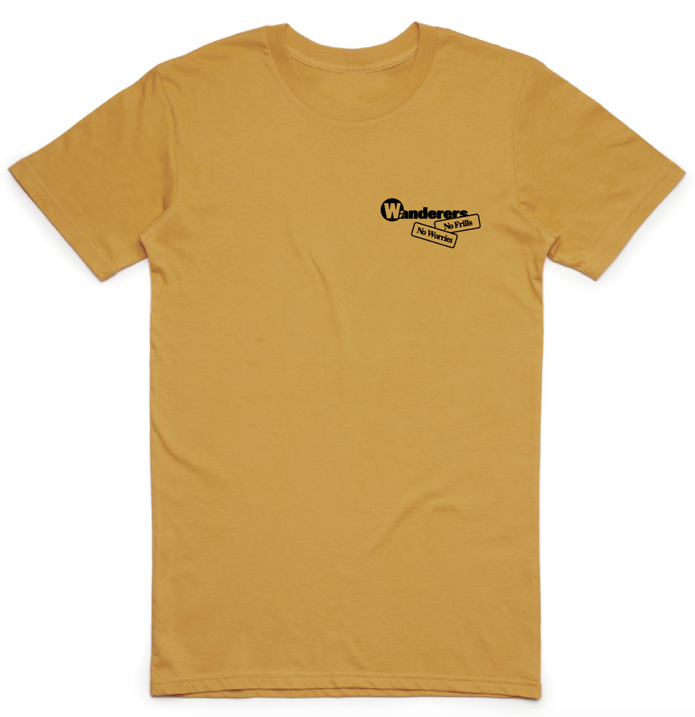 No Frills Frilled-Neck Lizard Tee - Mustard