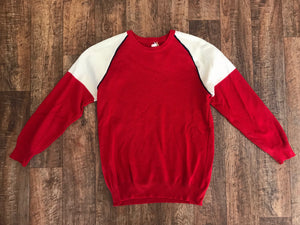 Vintage Red and White Sweater - SMedium
