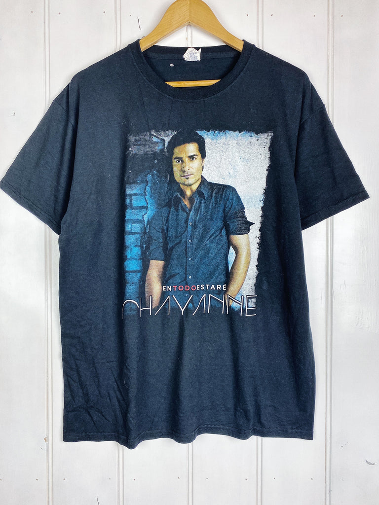 Preloved Music - Chayanne Black Tee - Large