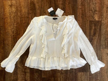 Load image into Gallery viewer, Top Shop Frill Blouse - Size 8