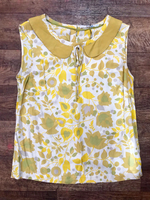 Pre-loved Boden 60's/70's print Top - Small
